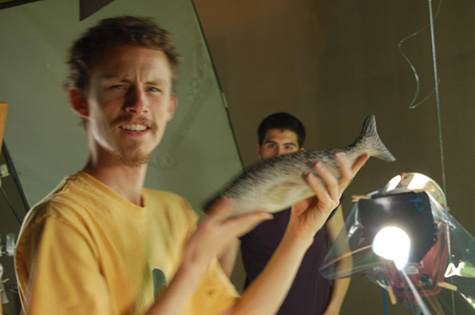 Aidan Fraser holding a fish