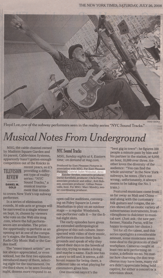 Press clipping from The New York Times