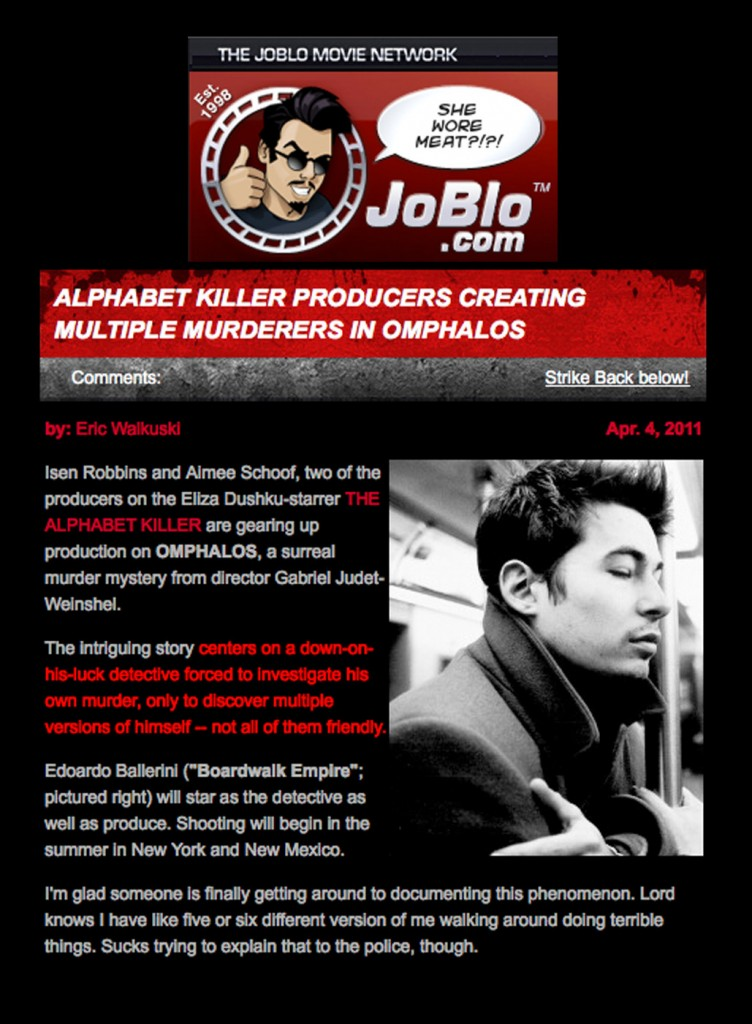 Press clipping from JoBlo Movie Network