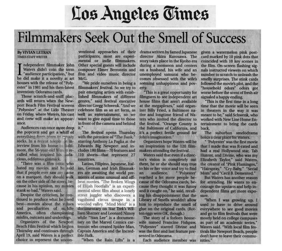 Press clipping from The Los Angeles Times