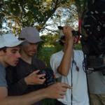 Aidan Fraser, George Nicholas and Gabriel Judet-Weinshel filming 'The Heart is a Hidden Camera'